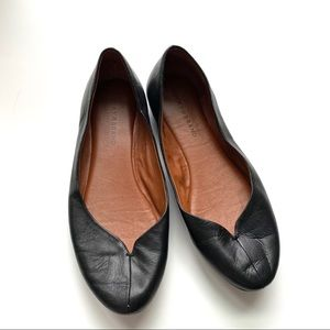 Lucky Brand Black Leather Ballet Flats Size 9.5